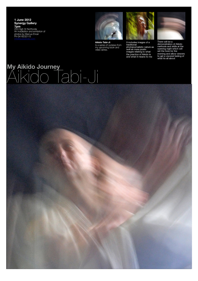 Aikido Tabi-ji exhibition flyer